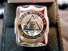 Classic 1920s Style DODGE BROTHERS STAR DAVID LOGO Closionne Nickel Silver Ring