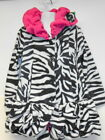 New Girls Mack & Co Fleece Coat Jacket Pink Black / White 2T 3T 4T 5 6 6X Cute!