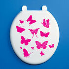 BUTTERFLY DECORATIVE TOILET SEAT VINYL STICKER - Insect / Animal Theme