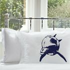 Two (2 for 20) Bottlenose Dolphin Nautical Pillowcase pillow cover Navy Blue