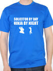 SOLICITOR BY DAY NINJA BY NIGHT Law / Legal /Lawyer Novelty Themed Men's T-Shirt