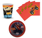 Monster Jam Birthday Party Supplies Plates Napkins & Cups Set for 8 or 16 NEW