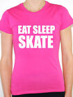 EAT SLEEP SKATE - Snow / Ice / Sport / Novelty / Humorous Themed Women's T-Shirt