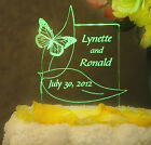Personalized Wedding Cake Topper Butterfly Design Optional LCD Lighted base
