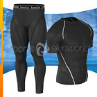 New Mens Compression Under Base Layer Gear Shorts Wear Shirt & Pant R03BSP06BB