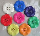 "EXTRA LARGE DAISY BUTTONS SIZE 100 2.5"" (63mm) - PACK OF 8 or 16 assorted colors"