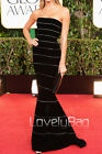 Designer Striped Velvet Slim Fit Trumpet Train Luxurious Prom Gown Evening Dress
