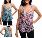 NEW NWOT Sheer Printed Lace - Stretchy - Animal Print Tank Top S M L