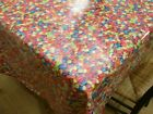 Smarties Kids PVC Tablecloth ALL Sizes Wipe Clean Vinyl Oilcloth Multis Dining