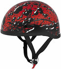Skidlid Original Motorcycle Half Helmet in Oil Spill Red / Black XS-2XL Skid Lid