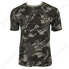 Black Digital Camo Pattern ARMY T-SHIRT - All Sizes Camouflage Military Top