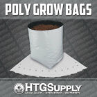 GROW BAGS Black and White Poly Plastic 1/2/3/5/7/10 gallons 10/25/50/100 Count