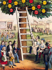 Above The Ladder Of Fortune- Currrier And Ives  CANVAS OR PRINT WALL ART