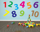 Childrens Number / Numerical Wall Art Design - Multicoloured or Single Coloured