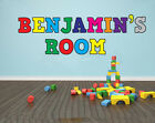 CHILDREN'S ROOM PERSONALISED NAMED WALL ART STICKERS - Various Colours or Single