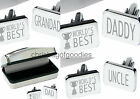 ENGRAVED World's BEST Cufflinks CASE Gifts For HIM BIRTHDAY Fathers Day