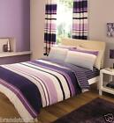 STRIPE Duvet Quilt Cover with Pillowcase Quilt Bedding Set - SINGLE,DOUBLE ,KING