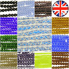 100 Crystal galss beads 6mm Round - Choose your colour