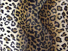 Faux Fur PONY Skin VELBOA Fabric Material BROWN LEOPARD