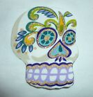 New Big Sugar Skull DIY Iron On Fabric Appliques T-shirt girl craft Tattoo Baby