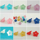 100 Frosted Acrylic lucite Flower beads 12mm All Colours