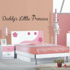DADDYS LITTLE PRINCESS quote wall decal for girls bedroom stickers