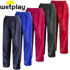 CHILDRENS WATERPROOF OVER TROUSERS 3-12yrs CHILDS KIDS BOYS GIRLS NAVY BLUE RAIN