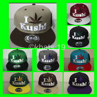 BRAND NEW FLAT PEAK VINTAGE I LEAF KUSH SNAPBACK BASEBALL CAP WITH TAGS