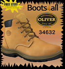 Oliver Steel Toe Work Boots 34632 Wheat Lace Up Brand New *All Sizes