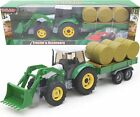 Diecast Metal Tractor and Digger with Trailer Set 1:32 Scale (BT36)