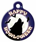 HOWLING HALLOWEEN - Custom Personalized Pet ID Tag for Dog and Cat Collars