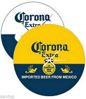"""Corona Extra Beer Bottle Label/Cerveza Pub Bar Sign 14"""" Round Glass Wall Clock"""
