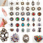 Sizable Large Finger Rings Bridal Party Crystal/Pearl/Resin/Vintage Costume