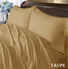 TAUPE  STRIPE COMPLETE USA BEDDING ITEM 1000TC 100% COTTON CHOOSE SIZE AND ITEMS