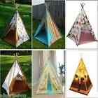 Wigwam Teepee Play Tent, 4 Designs. Indoor / Outdoor Boys and Girls Canvas Tents