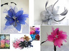 Fabric FLOWER FASCINATOR Hair Accessory Comb Colour Choice