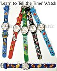 ~BOYS CHILDRENS LEARN TO TELL THE TIME WATCH~Educational Tool~12 Month Guarantee