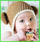 Baby Boys Girls Winter Fashion Hat Beanie Brown Knit Crochet Hat Beanie Cap Gift