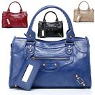 New GK Korean Women Girl Polyurethane Leather Studs Tote Shoulder bag Motorcycle