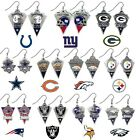 CHOOSE TEAM 1 Pair Dangle Earrings New NFL Official Solid Pewter Jewelry J Hook* on eBay