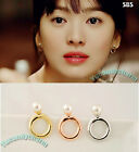 Korean Drama TV That Winter The Wind Blows Song Hye Kyo Pearl Ring Earrings SET