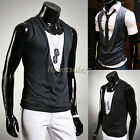 Stylish Luxury Mens Slim Fit Casual Pleated Tops sleeveless Vest Waistcoat ItS7
