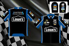 Jimmie Johnson Lowes Authentic Mens Embroidered Black Nascar Pit Crew Shirt-13
