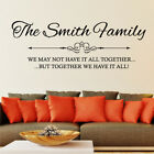 PERSONALISED home family name decal sticker own design Wall Quote art Stickers