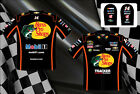 Tony Stewart Authentic Bass Pro Mens Embroidered Black Nascar Pit Shirt-JH-13