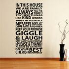 FAMILY stickers love house dining bed room lounge vinyl sticker Wall Art Quotes