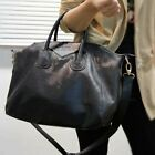 New Hot Womens Classic Fashion Black Large Faux Leather Shoulder Handbag Bags