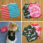 HOT Pet Puppy Dog Clothes pet dog puppy T shirt Camouflage Stripe Polo Free ship