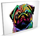Pug Dog Pop Art Print, Box CANVAS A3 to A1 -v25