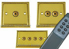 G&H Monarch Roped Polished Brass Remote & Touch Control Dimmer Light Switches